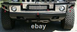 Fits Hummer H2 2003-2009 Inox Chrome Pare-choc Accent Avec Calandre Trim