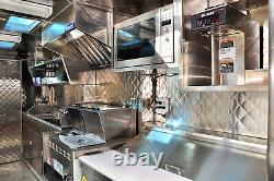 Food Truck & Restaurant Chrome Couette Panneau Mural En Acier Inoxydable, 24ga 48x96