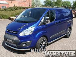 Ford Transit Custom Euro 6 76mm Lwb Barres Latérales Acier Inoxydable Chrome Poli