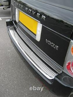 Garniture D'étape Arrière En Acier Inoxydable Chrome Pour Range Rover L322 Vogue Gcat Nouveau