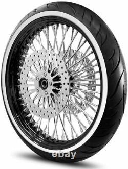 Harley Fat Spoke Wheel 21x3.5 Rayons En Acier Inoxydable Adn Pour Touring Bagger USA Construit