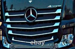 Mercedes Actros Mp4 Chrome Avant Grill 11 Pcs Acier Stainess Pour Wide Cabin
