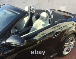 Mercedes Benz Slk R171 Chrome Rollbars Barres En Acier Inoxydable Rouler Sur La Barre Supérieure