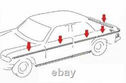 Mercedes Benz W114 W115 Berline 4 Portes Chrome Moulages Side Trim 10 Pcs S. Acier