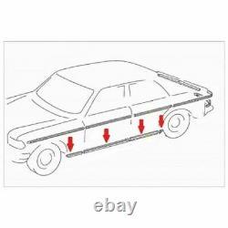 Mercedes Benz W123 Berline 4 Portes Chrome Moulage Du Côté Inférieur Ensemble De Garniture 8 Pcs