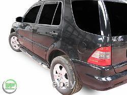 Mercedes ML W163 1998-2005 Barres Latérales Chrome Marches Latérales En Acier Inoxydable
