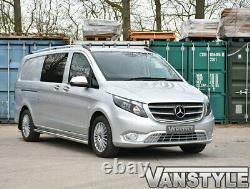 Mercedes Viano Compact & Long Van W639 Poli Barres Latérales En Acier Inoxydable Chrome