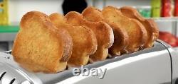 Nouveau Dualit Toaster Traiteur Commercial Six Fente 6 Slice Acier Inoxydable Chrome