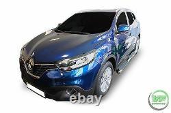 Ovale Barres Latérales Chrome Acier Inoxydable Marches Latérales Pour Renault Kadjar 2015-2019