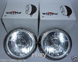 Paire De Lumières En Acier Inoxydable Chrome 7 Pouces Cibie Oscar H3 Replica Spot Lampes