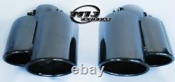 Porsche Style Twin Black Chrome Tuyau D'échappement En Acier Inoxydable Conseils Sport Trim