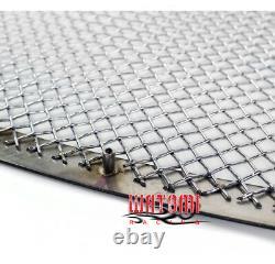 Pour 05-10 300 Upper+fog Light Cover Acier Inoxydable Mesh Grille Chrome 3pcs