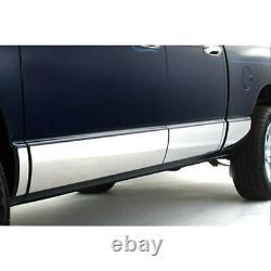 Pour 2002-2008 Dodge Ram Quad Cab À Lit Court Panneau De Rocker Trim 6 En Acier Inoxydable