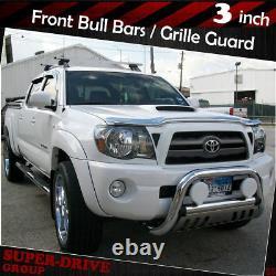 Pour 2007-2019 Toyota Tundra Pare-chocs Avant Plaque De Protection Bull Bar 3 En Acier Inoxydable