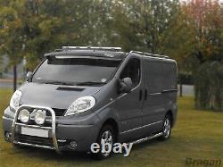Pour Fit 2014+ Ford Transit Mk8 Acier Inoxydable Chrome Barre De Toit Avant Lumière + Leds