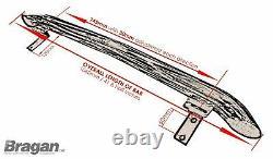 Pour S'adapter 06-14 Mercedes Sprinter Chrome Stainless Steel Rear Roof Light Bar + Led