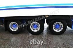 Pour S'adapter Remorque De Camion Universel 22.5 Couvre-jantes Manche X6 En Alliage Inoxydable