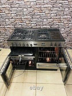 Rangemaster Toledo 110 Full Gas Stainless Steel Range Cooker +hood & Splash Ba