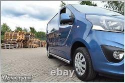 Renault Trafic 01-14 76mm H/duty Swb Side Bars Stainless Steel Chrome Steps Van