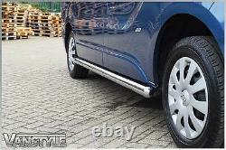 Renault Trafic 14+ 76mm H / Lwb Barre Latérale Chunky Acier Inoxydable Chrome Étapes