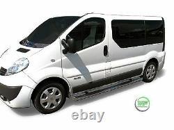 Renault Trafic Swb 2001-2014 Barres Latérale Marchepieds Latéraux En Acier Inoxydable Chromé