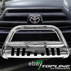 Topline Pour 2003-2009 Toyota 4runner Bull Bar Bumper Grille Garde En Acier Inoxydable