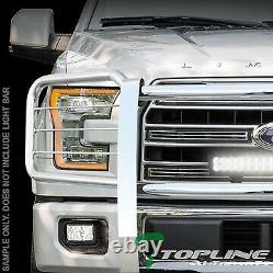 Topline Pour 2015-2017 Ford F150 Brush Push Bumper Grill Grille Guard Stainless
