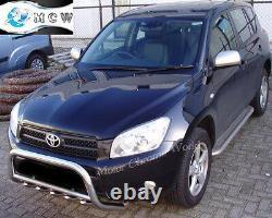 Toyota Toyota Rav4 Bull Bar Chrome Axle Nudge A-bar 60mm 2006-2009 Acier De Carburant