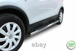 Vauxhall Mokka 2012 2020 Barres Latérales Chrome Marches Latérales En Acier Inoxydable