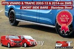 Vauxhall Vivaro 01-14 Sports Barres Latérales Swb Chrome Acier Inoxydable Qualité Oem