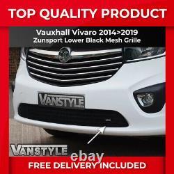 Vauxhall Vivaro 1419 Grille De Bumper Avant En Acier Inoxydable Noir Grille De Mesh Pas Chrome
