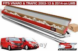Vauxhall Vivaro 2001-14 Sports Barres Latérales Lwb Chrome Acier Inoxydable Qualité Oem