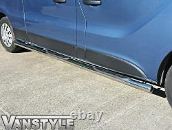 Vauxhall Vivaro 2001-2014 76mm 4 Step Swb Barres Latérales En Acier Inoxydable Chrome Steps