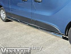 Vauxhall Vivaro 201419 76mm 4 Step Lwb Side Bars Stainless Steel Chrome Steps