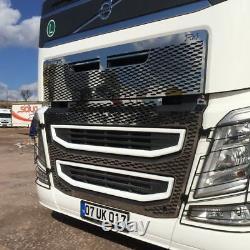 Volvo Fh 16 Chrome Front Grille 2pieces Acier Inoxydable