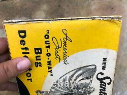 Vtg Nos 50s Santay Lady Luck Bug Deflector Capuche À Vent En Plastique Ornement Accessoire