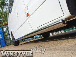 Vw Volkswagen Crafter Lwb 06-16 76mm Side Bar Steps Quality Stainless Steel Bars