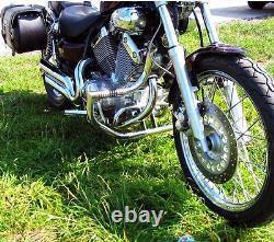 Yamaha Xv535 535 Virago Garde Moteur À Barre D'écrasement En Acier Inoxydable Chevilles Intégrées