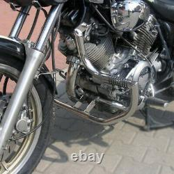 Yamaha Xv750 1100 Virago Garde Moteur À Barres D'écrasement En Acier Inoxydable + Chevilles
