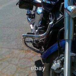 Yamaha Xvs 1300 Midnight Star Garde Moteur À Barres D'écrasement En Acier Inoxydable Avec Chevilles